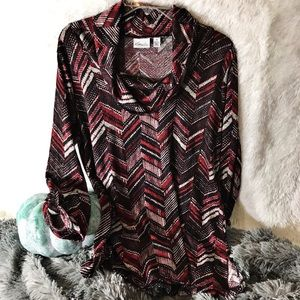 Kim Rogers Tunic Cowl Neck Sweater Size PL